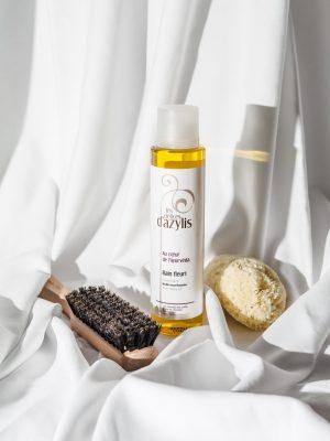 Huile nourrissante cheveux secs bain fleuri - Les délices d'Azylis