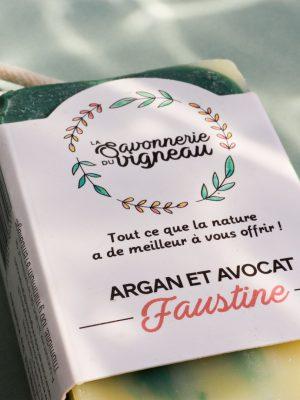 Savon argan Faustine - La savonnerie du vigneau (3)