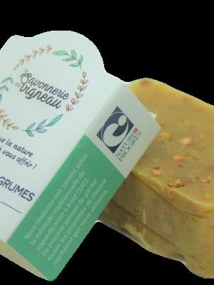 Savon exfoliant aux agrumes Florence - La savonnerie du vigneau